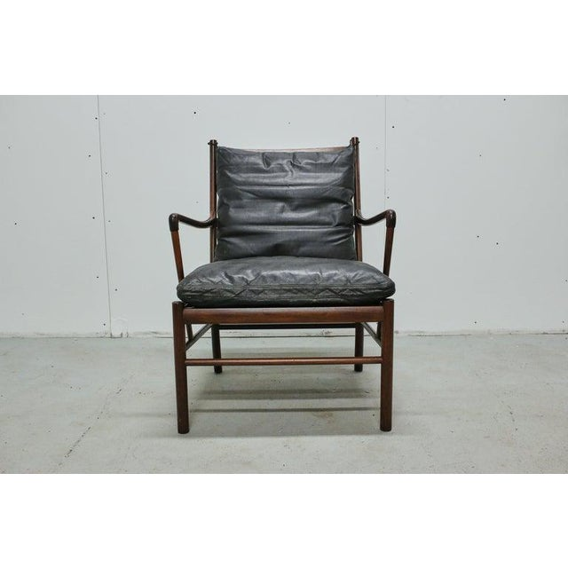 Black Rosewood Ole Wanscher Colonial Chair, P. Jeppesens Møbelfabrik, Denmark, 1960s For Sale - Image 8 of 13