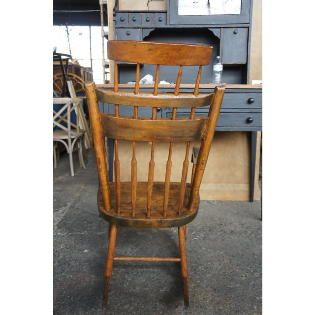 Brown 19th Century Antique Chestnut Windsor Comb Back Rocking Chair For Sale - Image 8 of 13