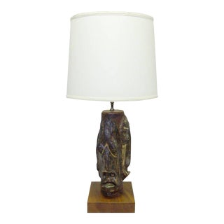 Three Face Grotesque Table Lamp For Sale