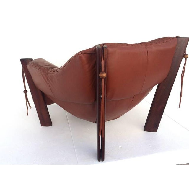 Jacaranda Rosewood & Leather Lounge Chair by Percival Lafer - Image 5 of 10