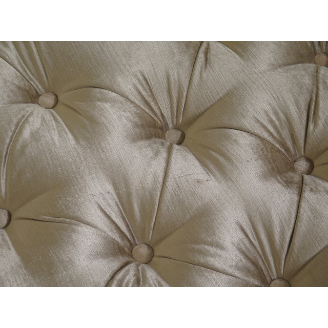 1990s Vintage Custom Upholstered Tufted Chaise For Sale - Image 10 of 12