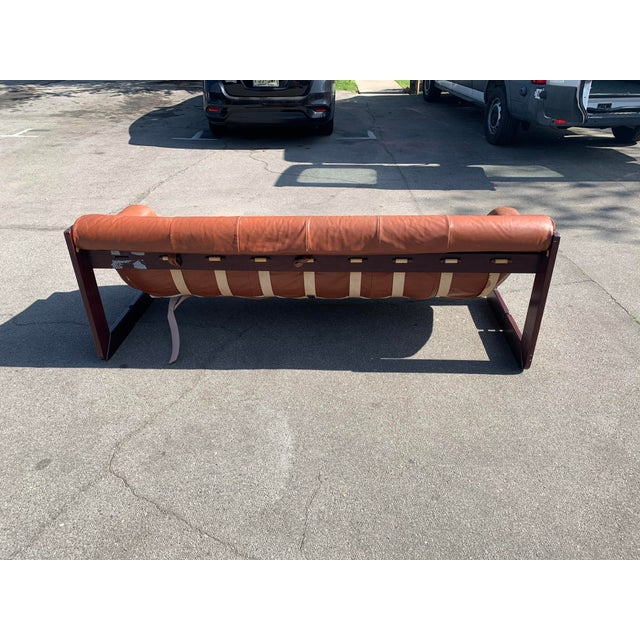 Mid-Century Percival Lafer Brazilian Leather Sofa For Sale - Image 12 of 13
