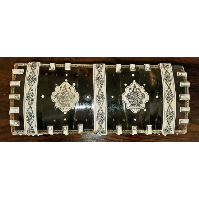 Late 19th Century 19th Century Anglo Indian Vizagapatam Dark Shell and Faux Ivory Glove Box For Sale - Image 5 of 7
