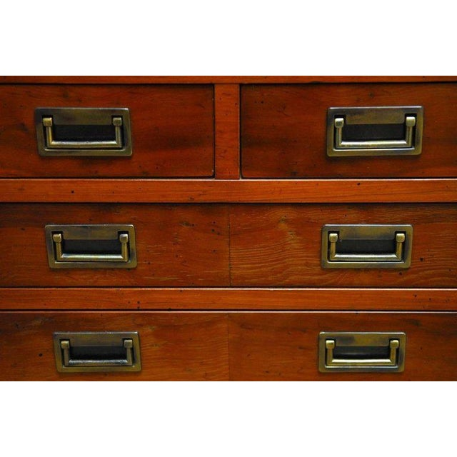 Diminutive Campaign Style Chest or Dresser by Hekman - Image 5 of 9