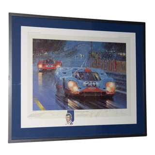 "Nicholas Watts ""The Power and the Glory"" Tribute Lithograph to Porsche & Ferrari Racing Duels For Sale"