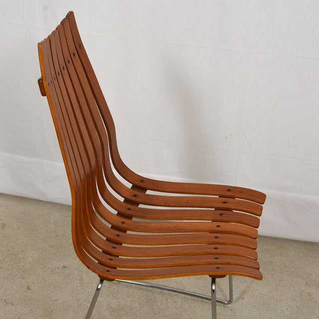 """Hove Mobler Set of 8 Norwegian Modern """"Scandia"""" Teak Dining Chairs by Hans Brattrud For Sale - Image 4 of 8"""