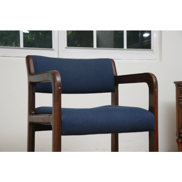 Vintage 1970s Mid-Century Modern Wooden Chair For Sale - Image 9 of 11