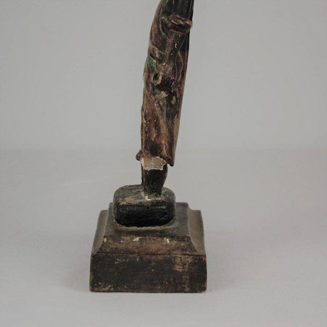 19th Century Carved Wood Youth For Sale - Image 10 of 13