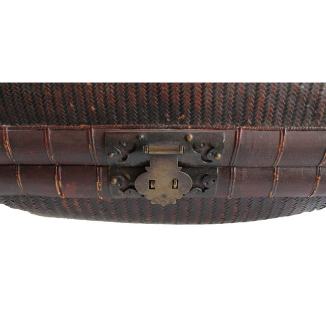 Antique Chinese Woven Trunk For Sale - Image 4 of 6