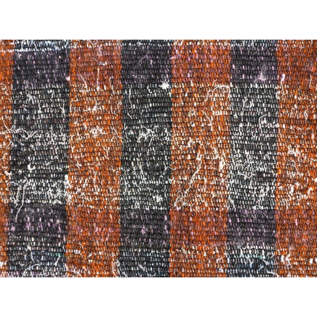 "Black Vintage Turkish Kilim Runner2'7'x18'6"" For Sale - Image 8 of 13"