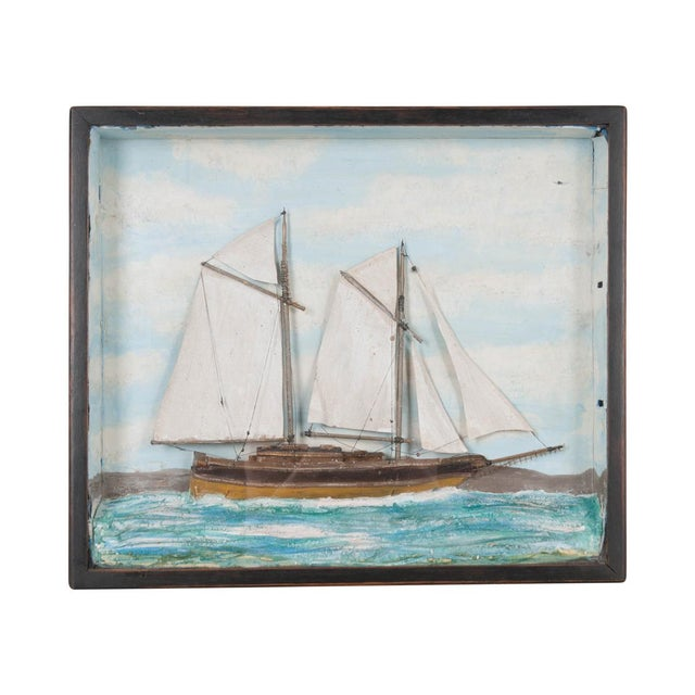 Blue 19th Century English Nautical Diorama For Sale - Image 8 of 8