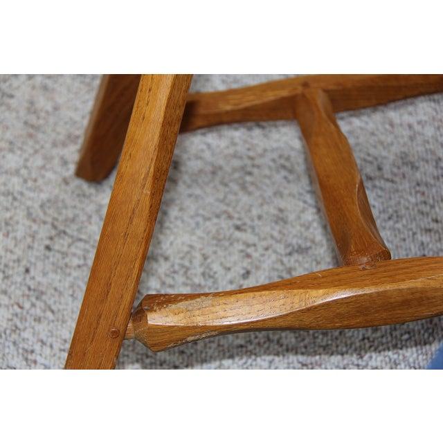 Hunt Country Furniture Oak Trestle Dining Set - Image 3 of 5