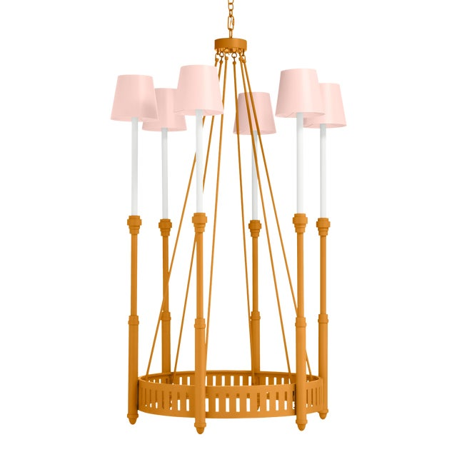 Camilla Chandelier, Dash of Curry Just Peachy Shades For Sale