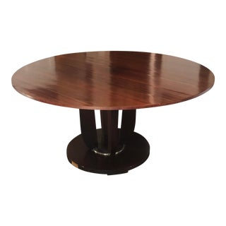 Barbara Barry for Baker Round Fluted Dining Table For Sale