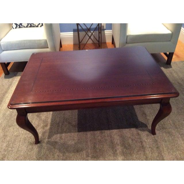 Glass & Wood Rectangular Coffee Table