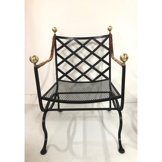 Pair of Italian Hollywood Regency Savonarola Chairs For Sale In New York - Image 6 of 8