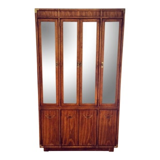 Mid-Century Drexel Accolade Campaign China Hutch For Sale