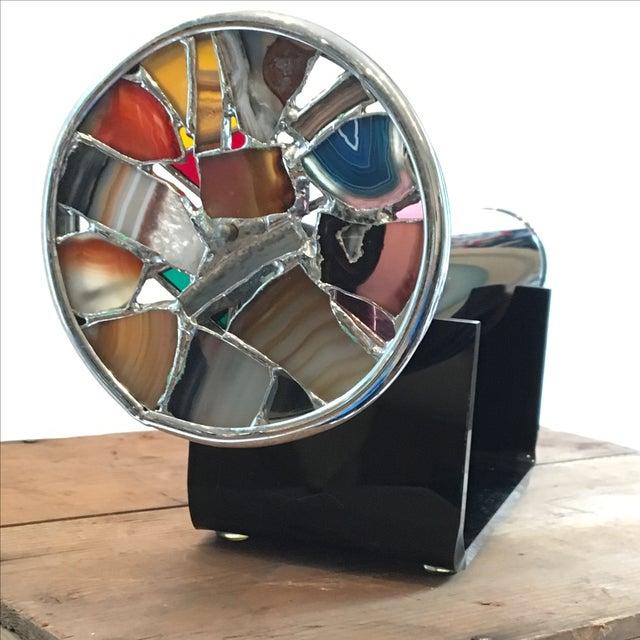 Modern Art Glass Chrome Agate Kaleidoscope - Image 3 of 7