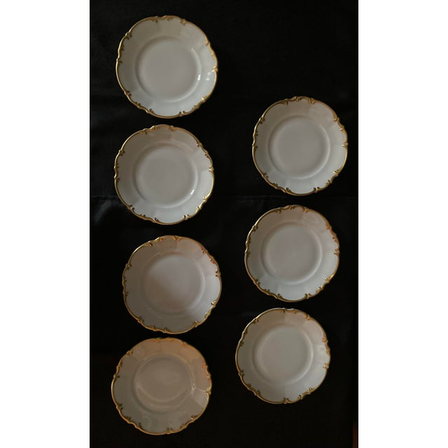 French Vintage Hutschenreuther Brighton & Pasco Porcelain Bread & Butter Plates - Set of 12 For Sale - Image 3 of 13