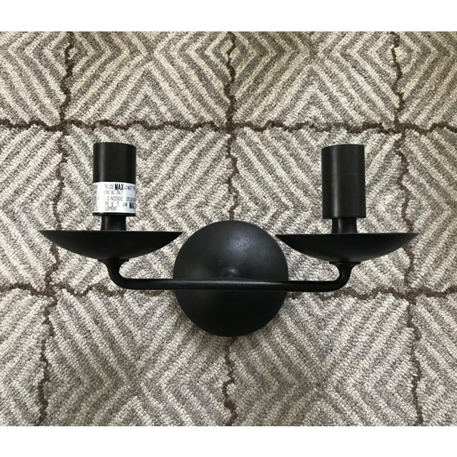 Metal Aerin Fontaine Double Sconces With Shades - a Pair For Sale - Image 7 of 12