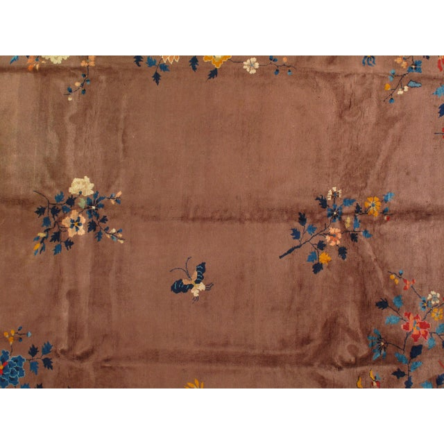 Art Deco Early 20th Century Antique Chinese Art Deco Area Rug - 9′ × 11′7″ For Sale - Image 3 of 4