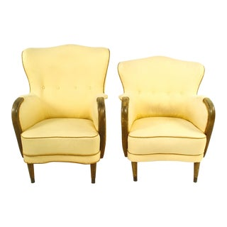 1950s Vintage Danish Midcentury Lounge Chair - a Pair For Sale