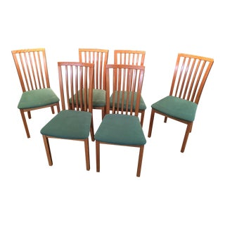 Vintage Mid Century Skovby Danish Modern Dining Chairs- Set of 6 For Sale
