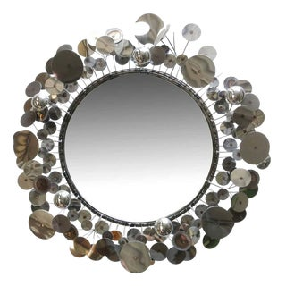 "Curtis Jere ""Raindrops"" Sculptural Wall Mirror For Sale"