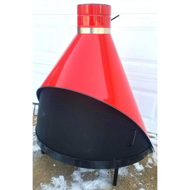 Vintage Preway Mid Century Modern Red Freestanding Cone Fireplace Chairish