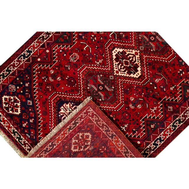 "Vintage Persian Shiraz Rug, 5'6"" X 8'9"" For Sale - Image 4 of 9"