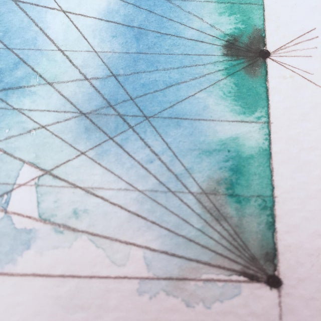 """""""Connected"""" Watercolor Painting - Image 4 of 6"""