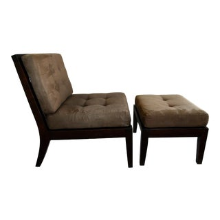 1990s Contemporary Chair and Ottoman For Sale