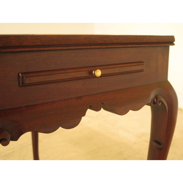 Henkel Harris Queen Anne Mahogany Tea Table For Sale - Image 5 of 10
