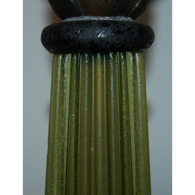 Marbro Murano Glass Table Lamps Green For Sale - Image 10 of 10