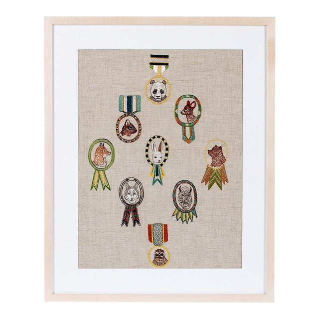 Merit Badges Framed Textile Art - Image 1 of 3