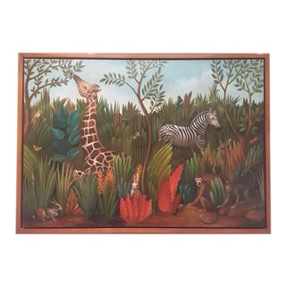 Jungle Animals Contemporary Painting For Sale