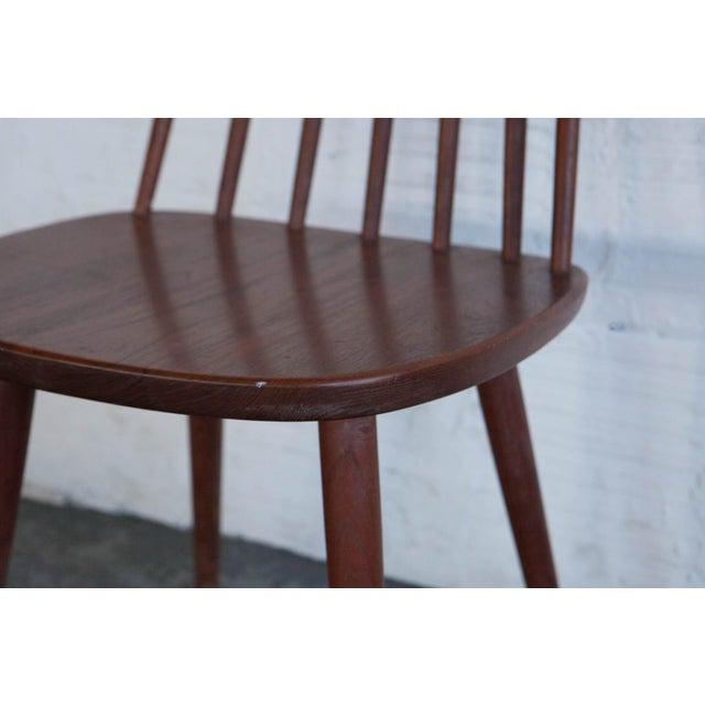 Mid-Century Modern Yngve Ekström Swedish Spindleback Teak Dining Chairs - Set of 4 For Sale - Image 3 of 10