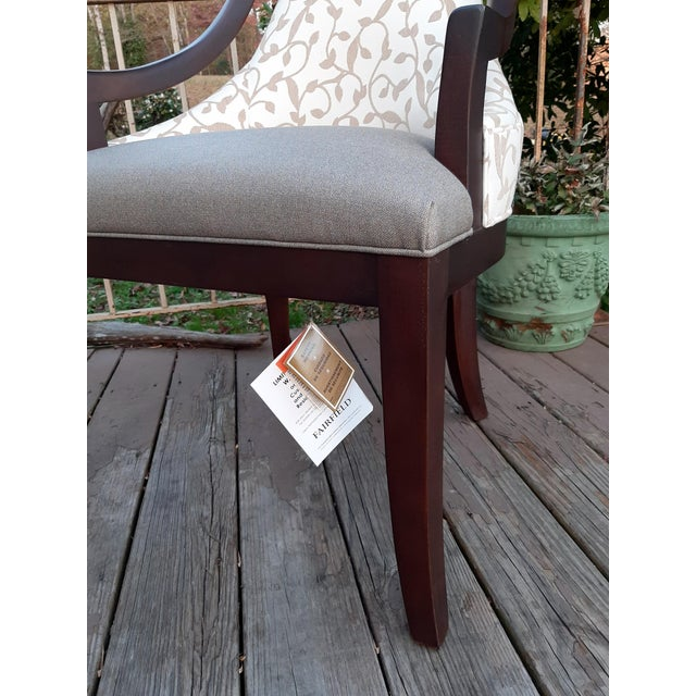 Wood Fairfield Caldwell Occasional Chair For Sale - Image 7 of 13