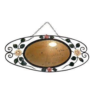 French Art Deco-Nouveau Wrought Mirror
