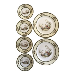 "1940s Notitake ""Windsor"" Pheasant Chinoiserie China Dinnerware - Set of 6 For Sale"