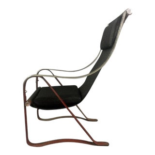 1930s McKay Craft Leather and Steel Sling Chair