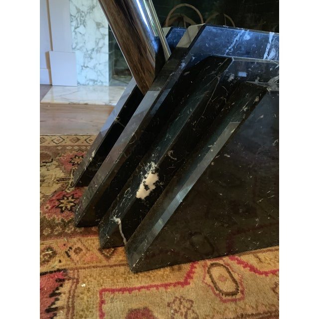 Stone 1980s Modern Stacked Marble Table With Rotating Top For Sale - Image 7 of 10