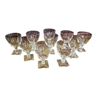 Vintage Lalique Argos Wine Goblets - Set of 10 For Sale