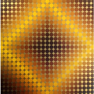 Vintage Op-Art Metallic Gold Serigraph Poster by Victor Vasarely 1972 Unsigned Unframed For Sale