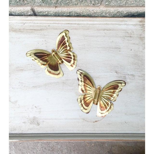 Vintage Metal Butterflies - A Pair - Image 4 of 5