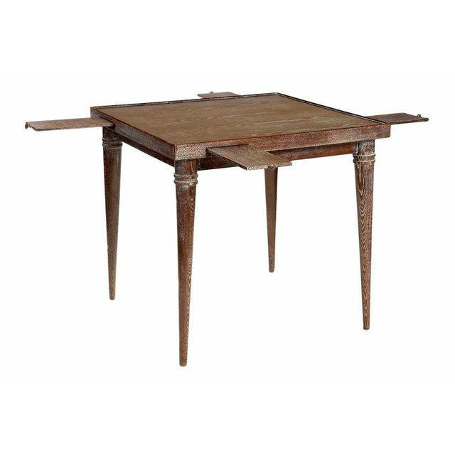 Vintage Ceruse Finishing Wooden Game Table For Sale In New York - Image 6 of 6