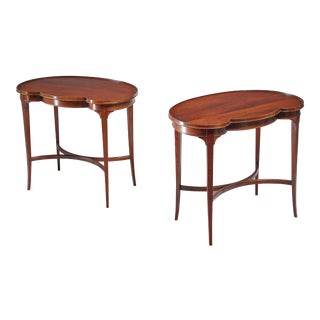 Pair of free form Nordiska Kompaniet side tables, Sweden, 1945