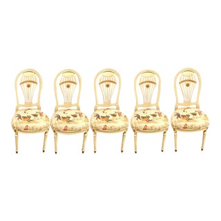 Balloon Back Dining Chairs by Maison Jansen - Set of 5 For Sale