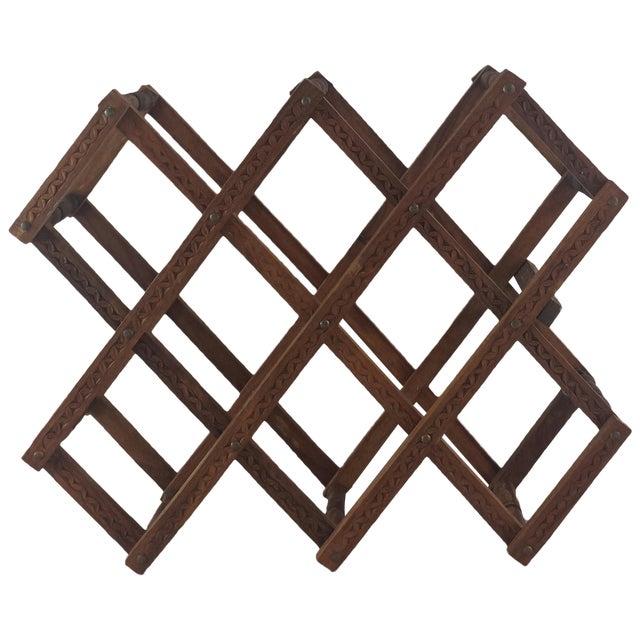 Teak Wood Wine Rack - Image 1 of 5