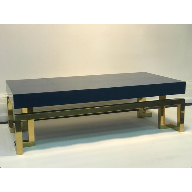 Late 20th Century Exceptional Italian Coffee Table with Greek Key Design For Sale - Image 5 of 10